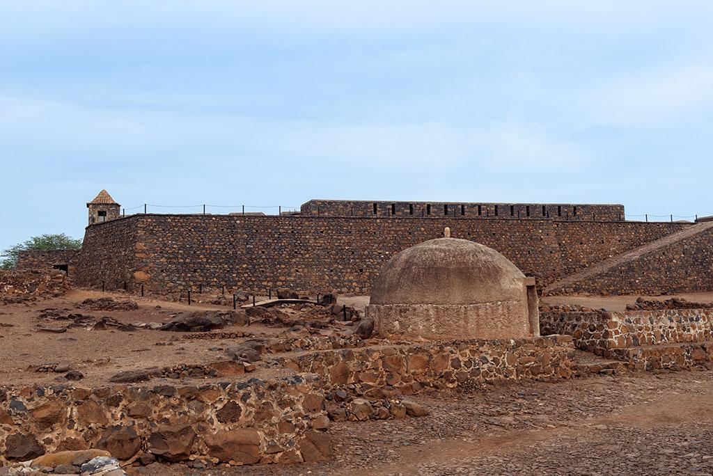 Exterior fortaleza de Sao Felipe en Cidade Velha