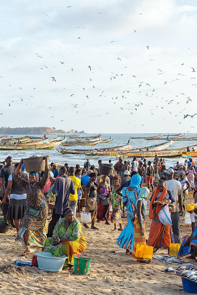 Playa de Tanji en Gambia