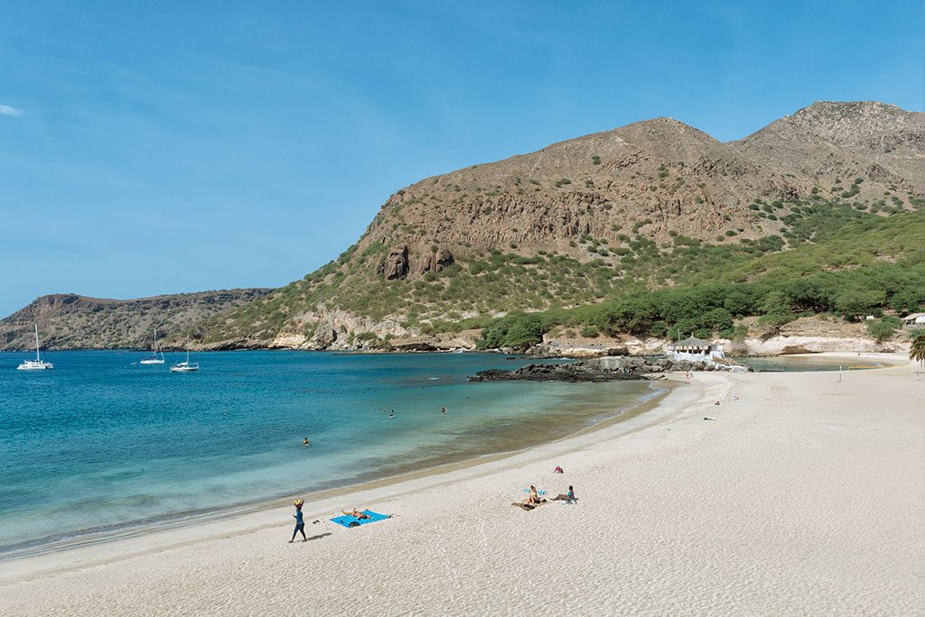Viajar a Cabo Verde playa de Tarrafal en Santiago
