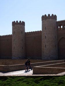 Exterior del Palacio de La aljaferia en Zaragoza