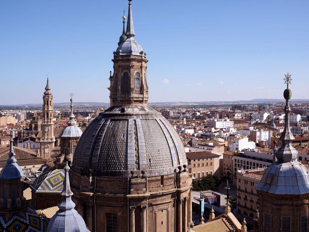 Vista de Zaragoza desde las torres de El Pilar