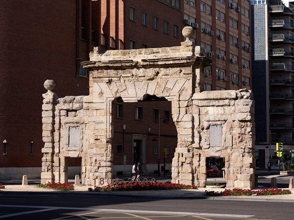 Puerta del Carmen, la única puerta que sobrevive de las antiguas doce puertas de la ciudad de Zaragoza.