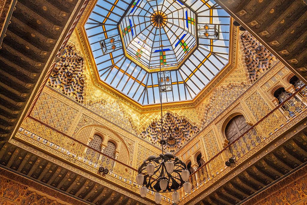 Techo patio de entrada Casino de Murcia