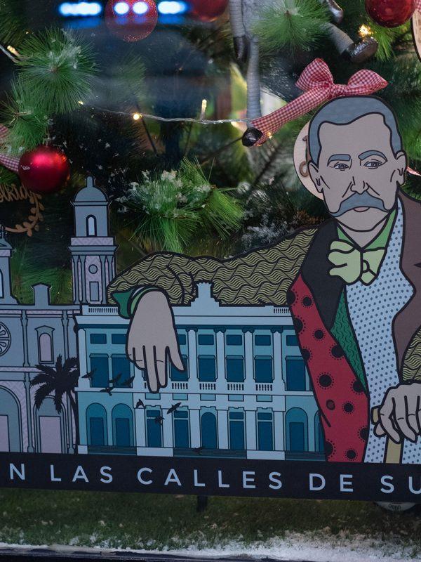 Benito Pérez Galdós en escaparate
