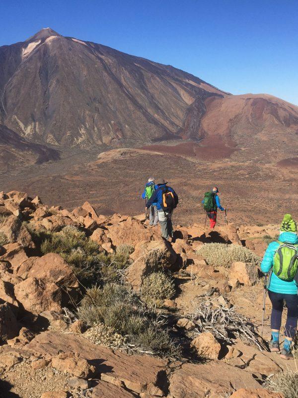 Senderistas en el parque Nacional del teide